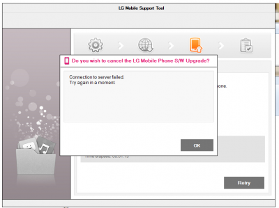 lg mobile support tool выдает ошибку