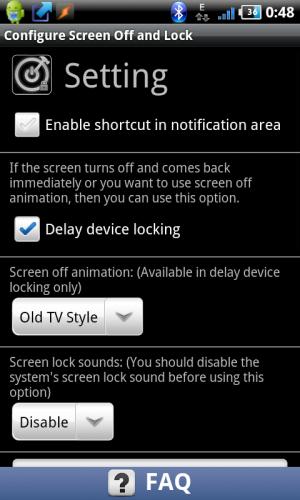 Screen off and lock 4pda