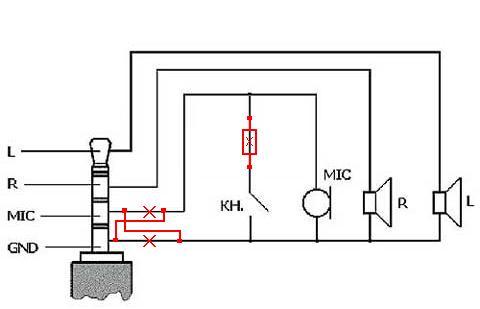 Схема гарнитуры xiaomi