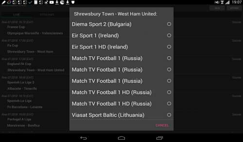 Sport Schedule TV - 4PDA