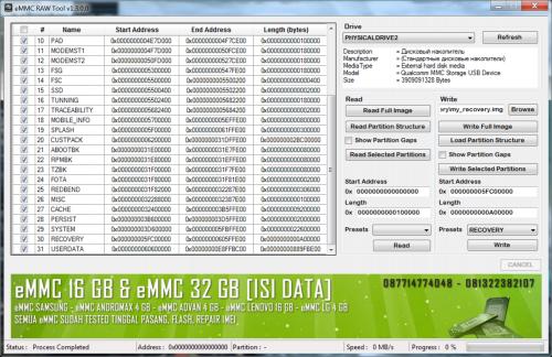 eMMC RAW Tool - 4PDA